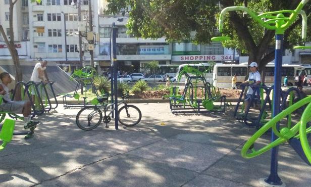 A área ergonômica da praça (Foto: Rafael Junqueira/Mundo Pauta)