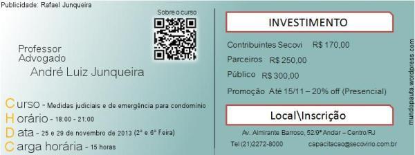 Curso de capacitação Secovi-RJ (Publicidade Mundo Pauta - Rafael Junqueira)