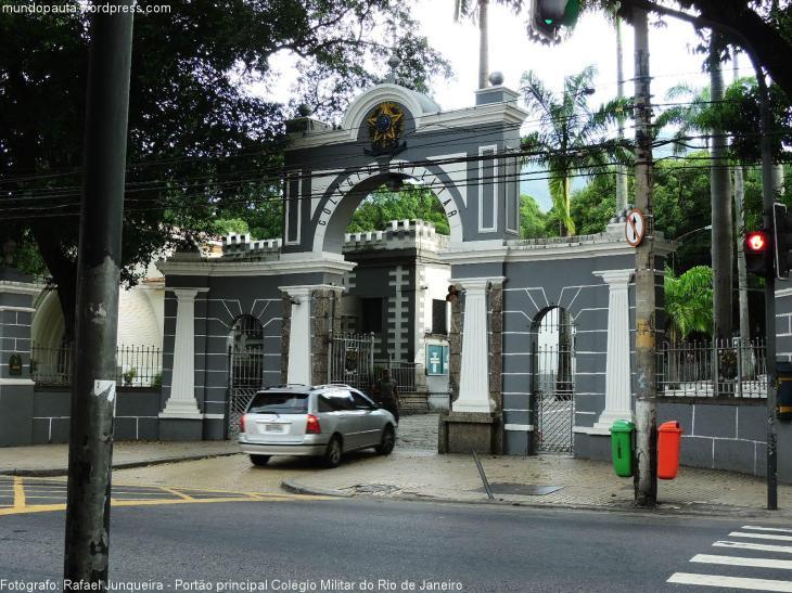Portão principal do Colégio Militar (Foto: Rafael Junqueira/Mundo Pauta)