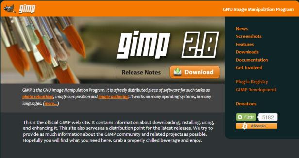Site oficial do Gimp (Foto: Reprodução/Mundo Pauta)