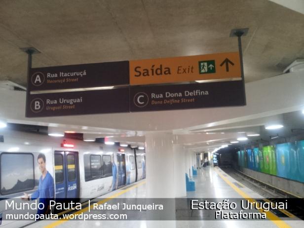 Plataforma da Estação Uruguai (Foto: Rafael Junqueira/Mundo Pauta)