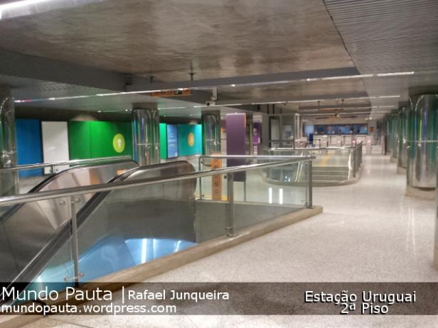 Segundo andar da estação Uruguai (Foto: Rafael Junqueira/Mundo Pauta)