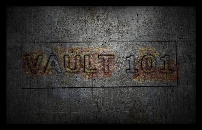 Texto encravado e enferrujado Vault 101 (Imagem: Mundo Pauta)
