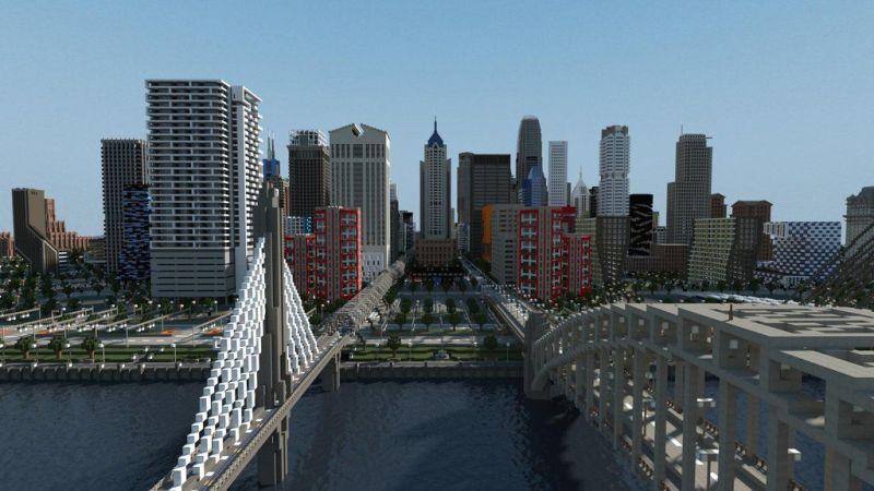 Cidade em Minecraft (Imagem: Divulgação)
