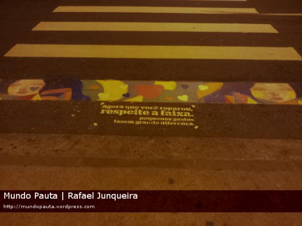 Faixa de pedestres na Rua Conde de Bonfim (Foto: Rafael Junqueira\Mundo Pauta)