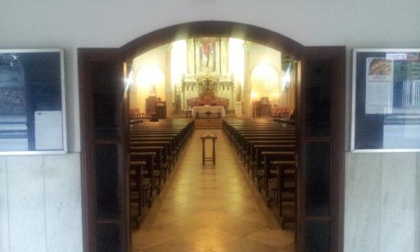 Porta do Átrio - Visão do Altar - Tijuca (Foto: Rafael Junqueira / Mundo Pauta)