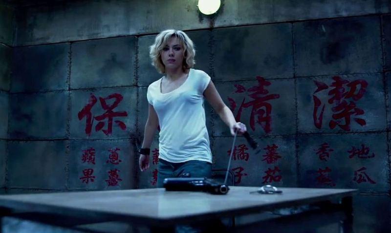 Cena da prisão na China de Lucy (2014)
