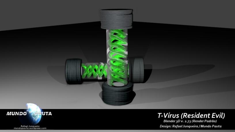 Modelo 3D - Cápsula T-Vírus (Foto: Rafael Junqueira / Mundo Pauta)