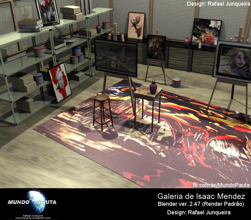 Galeria Isaac Mendez 3D - Blender (Design: Rafael Junqueira)